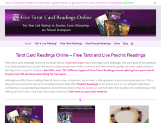freetarotcardreadingsonline.com screenshot