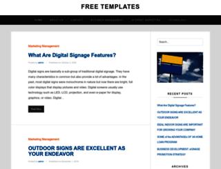 freetemplatesite.com screenshot