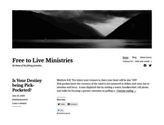 freetoliveministries.org screenshot
