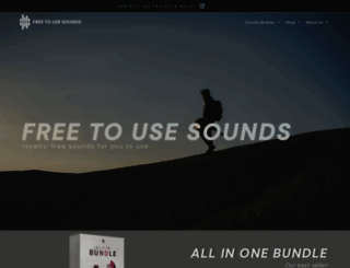 freetousesounds.com screenshot