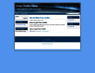 freetraffichere.com screenshot