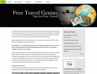 freetravelgenius.com screenshot