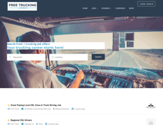 freetruckingjobs.com screenshot