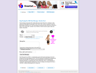 freetxt.ca screenshot