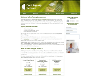 freetypingservices.com screenshot