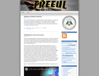 freeulskateboarding.wordpress.com screenshot