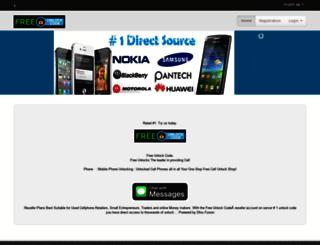 freeunlockcode.com screenshot