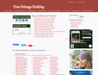 freevintageknitting.com screenshot