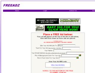 freeviraladz.com screenshot