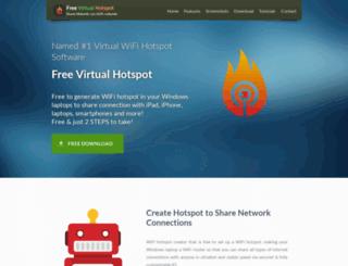 freevirtualhotspot.com screenshot