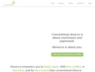 freevorce-dev.wevorce.com screenshot