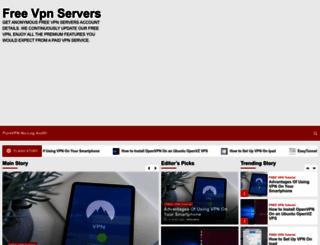 freevpnservers.com screenshot