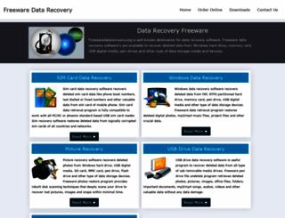 freewaredatarecovery.org screenshot
