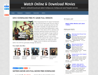 freewatchonlinemoviesdownload.blogspot.in screenshot
