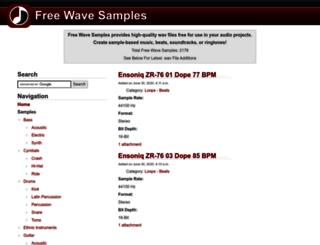 freewavesamples.com screenshot