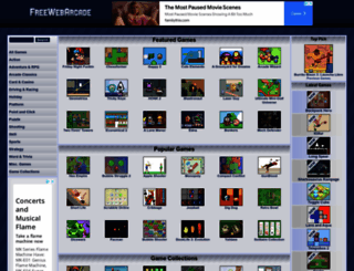 freewebarcade.com screenshot