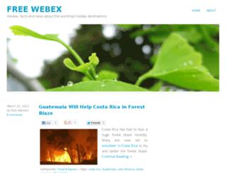 freewebex.co.uk screenshot
