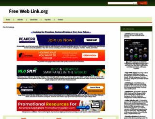 freeweblink.org screenshot
