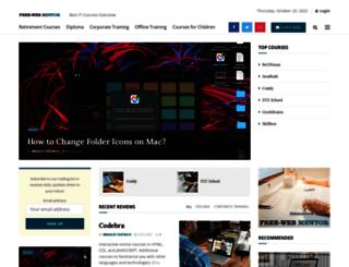 freewebmentor.com screenshot