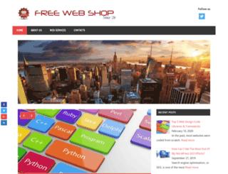 freewebshop.org screenshot
