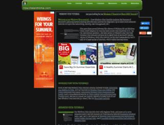freewindowsvistatutorials.com screenshot