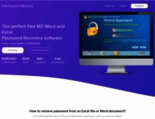 freewordexcelpassword.com screenshot