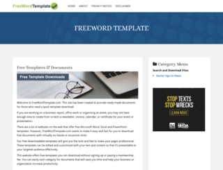 freewordtemplate.com screenshot