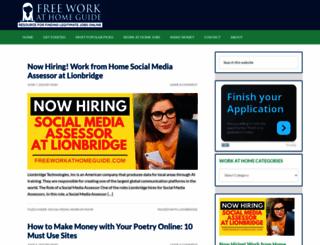 freeworkathomeguide.com screenshot