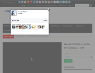 freezetheme.com screenshot