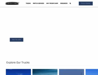 freightliner.com screenshot