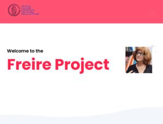 freireproject.org screenshot