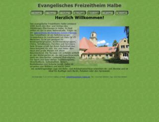 freizeitheim-halbe.de screenshot