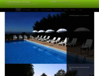 french-holidays-aude.com screenshot