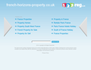 french-horizons-property.co.uk screenshot