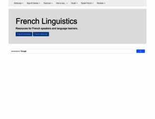 french-linguistics.co.uk screenshot