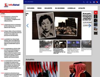 french.alahednews.com.lb screenshot