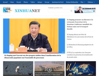 french.xinhuanet.com screenshot