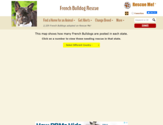 frenchbulldog.rescueme.org screenshot