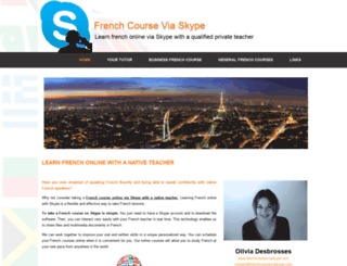 frenchcourseviaskype.com screenshot