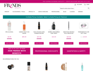 frendsbeautysupplyonline.com screenshot