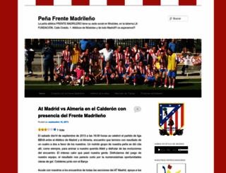 frentemadrilenyo.wordpress.com screenshot