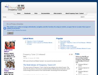 frequencytuner.com screenshot