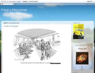 fresasymelocotones.blogspot.com screenshot