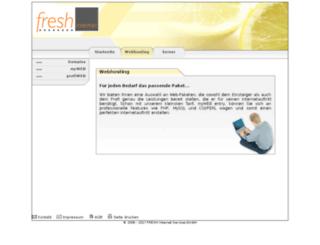 fresh-hosting.de screenshot