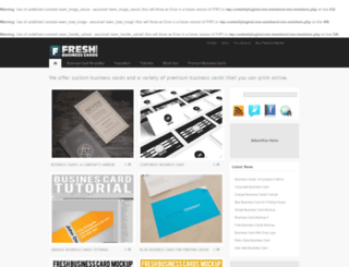 freshbusinesscards.com screenshot