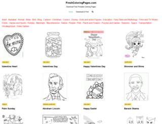 freshcoloringpages.com screenshot