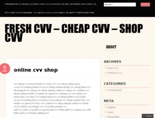freshcvvshop.wordpress.com screenshot