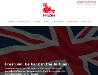 freshdigitalawards.co.uk screenshot