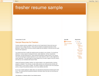 fresher-resume-sample.blogspot.com screenshot