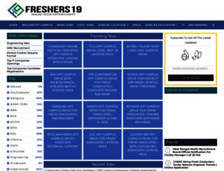 freshers19.com screenshot